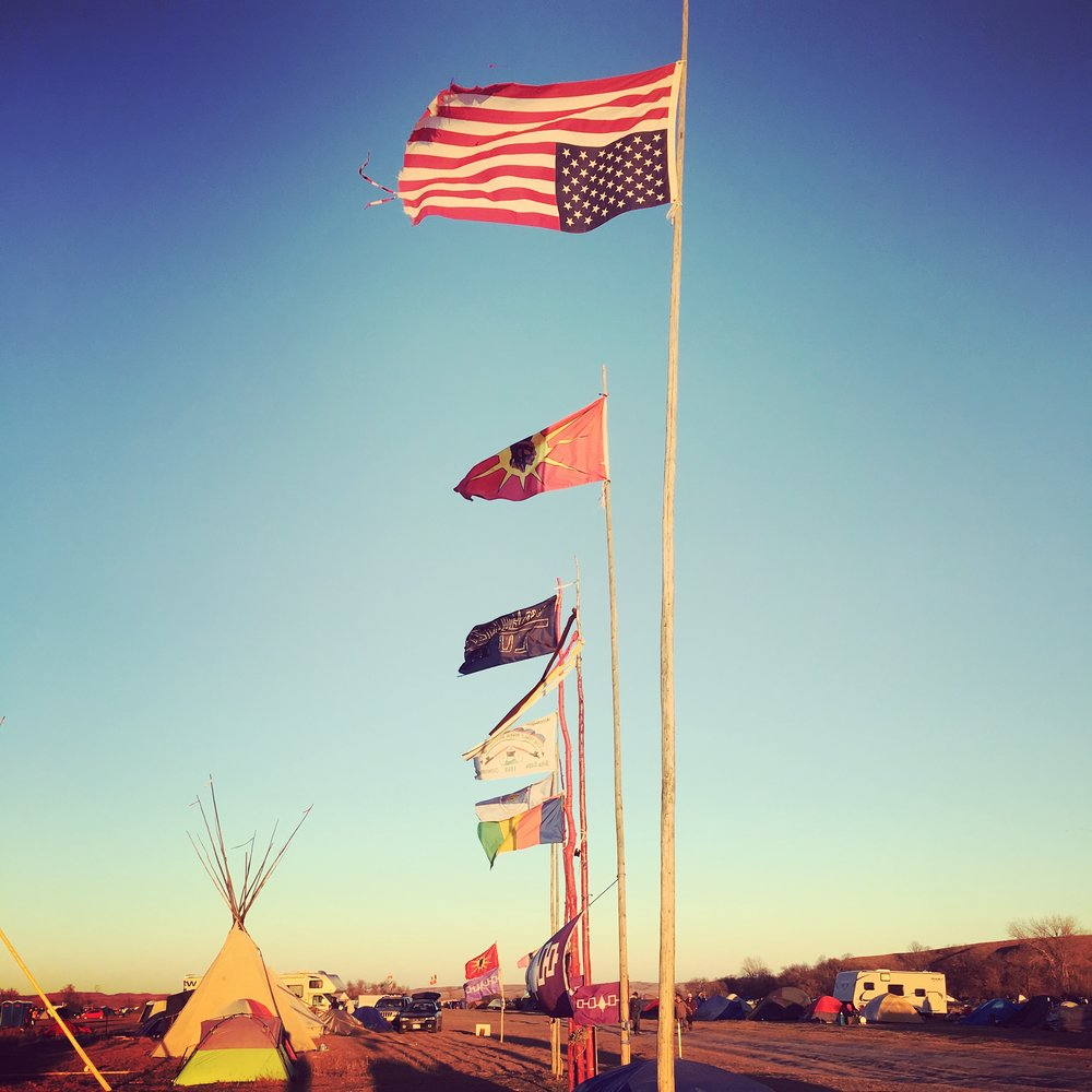 Photo taken by  Matt Halvorson  on the Standing Rock Reservation in November 2016.