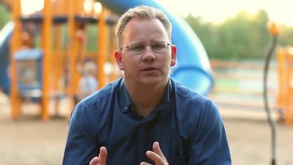 Chris Reykdal feels all the feelings about playgrounds.