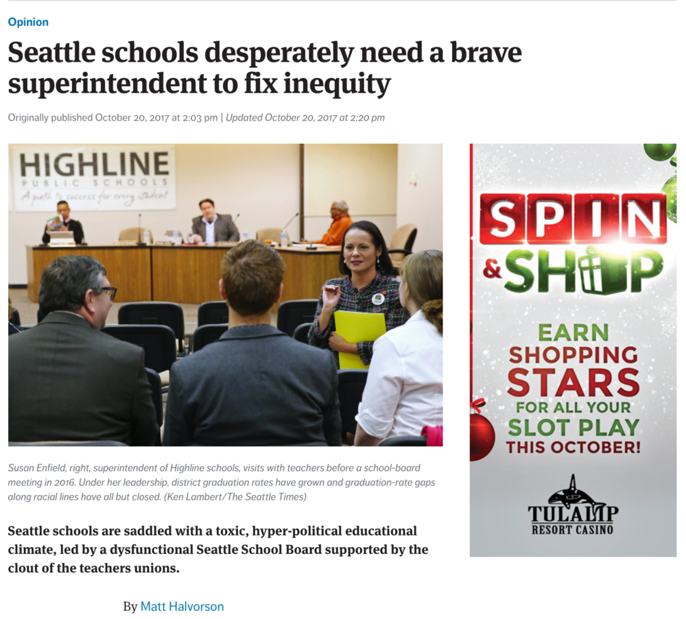 Halvorson Seattle Times Op-Ed