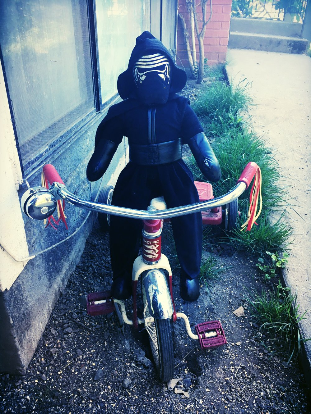 Sounds like Kylo Ren will have to ride his trike to school on Wednesday.