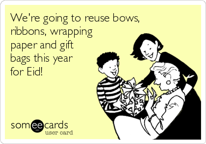 Reusing wrapping not only saves waste, but is a cost effective way of giving gifts.