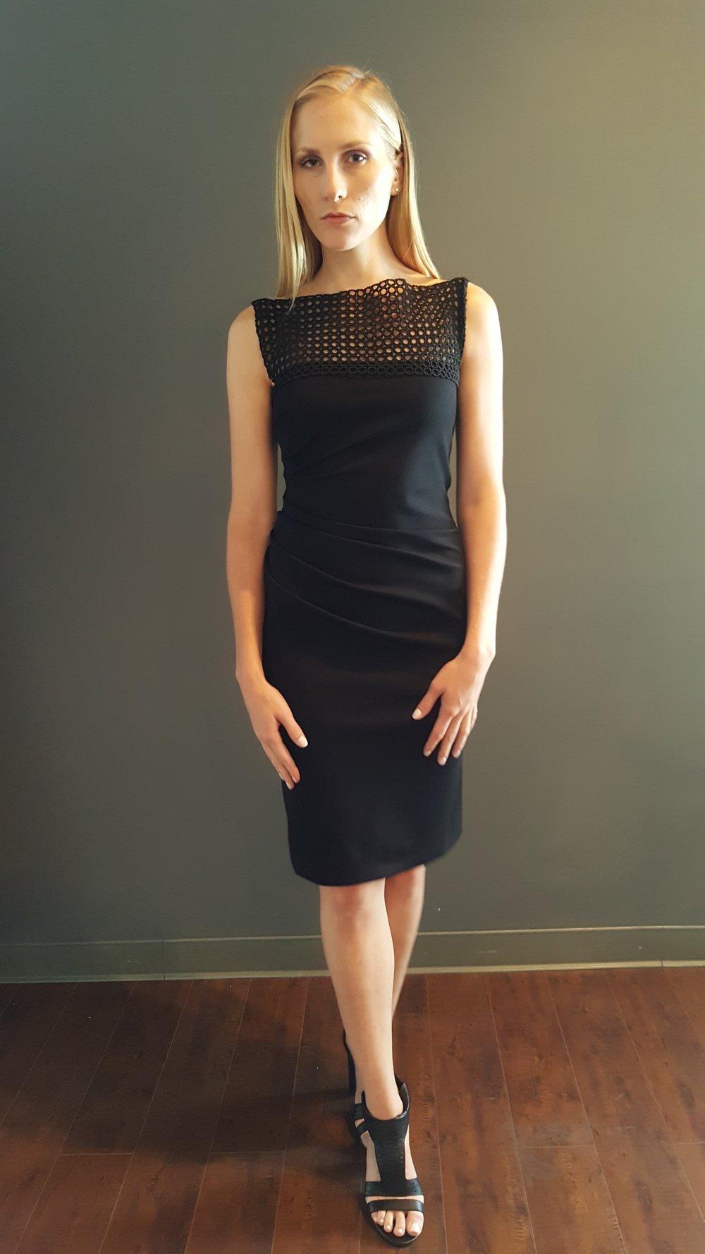 Circular Lace Draped Dress
