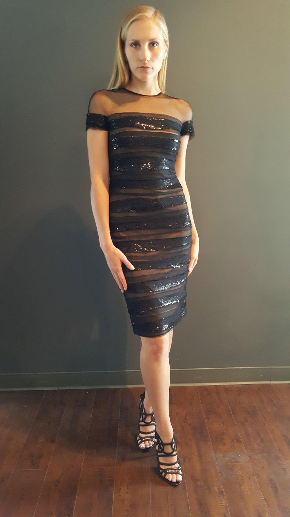 Black Strips Dress