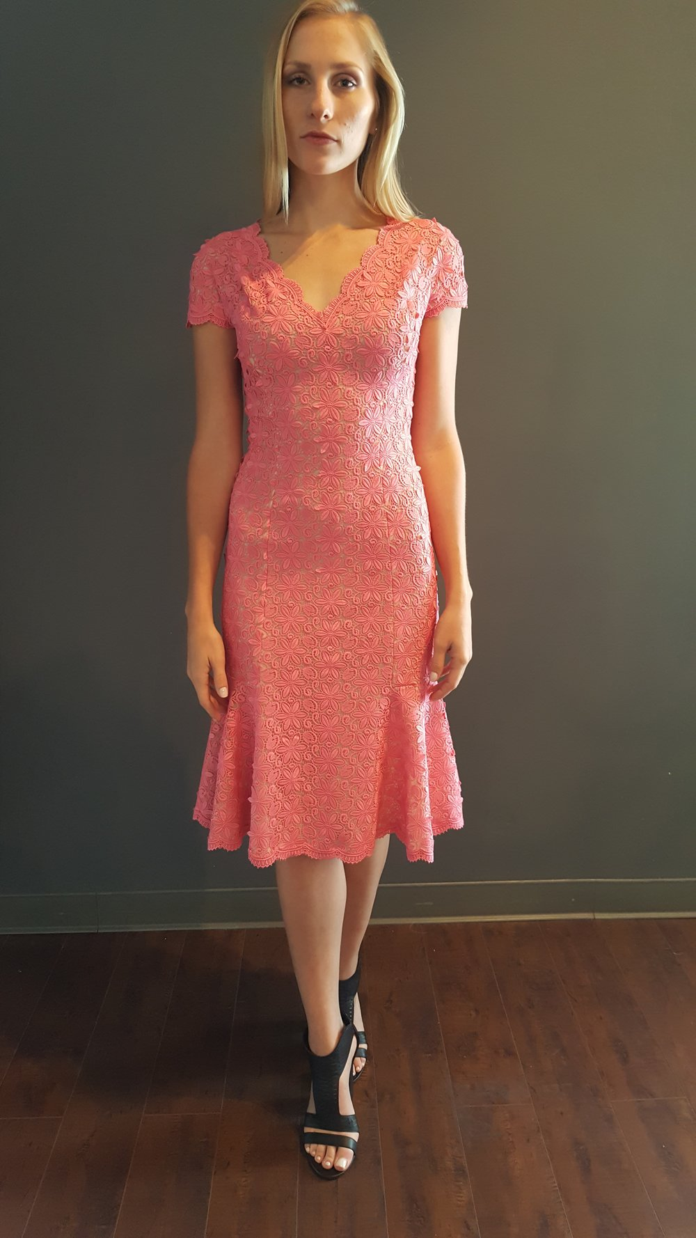 Guipere Lace Fit and Flare Dress