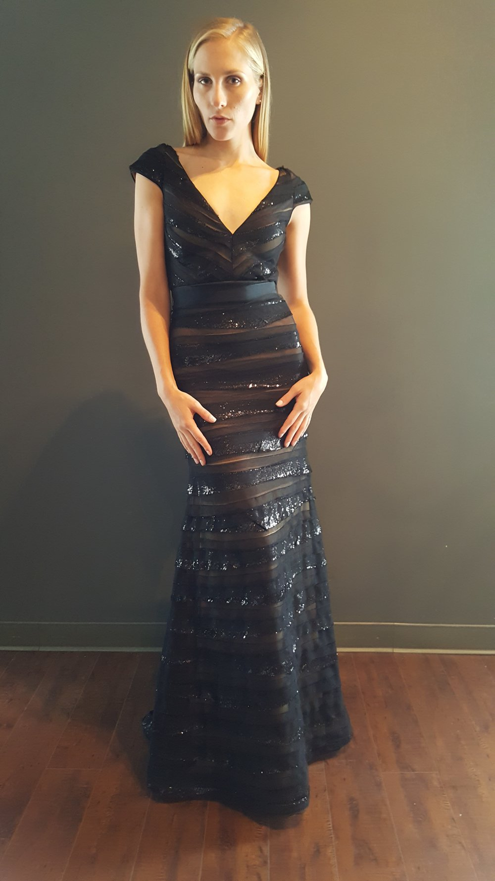 Black Strips Gown