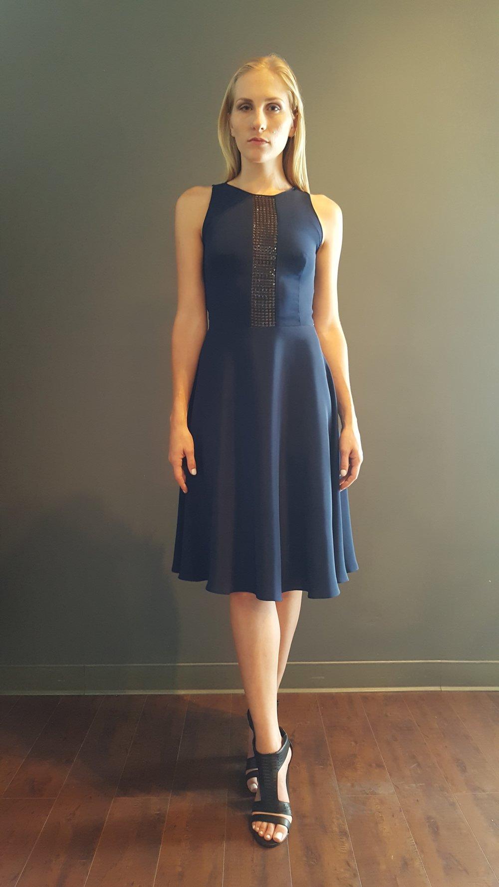 Sequin Mesh Swing Dress