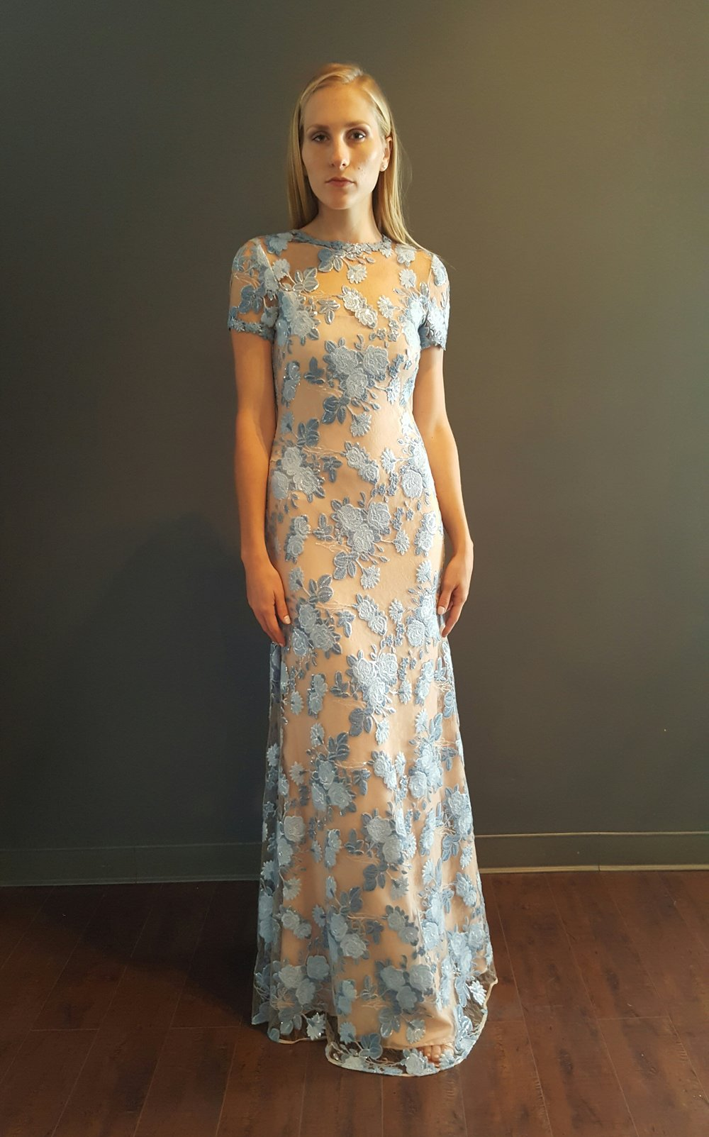 Embroidered Rose T-Shirt Gown