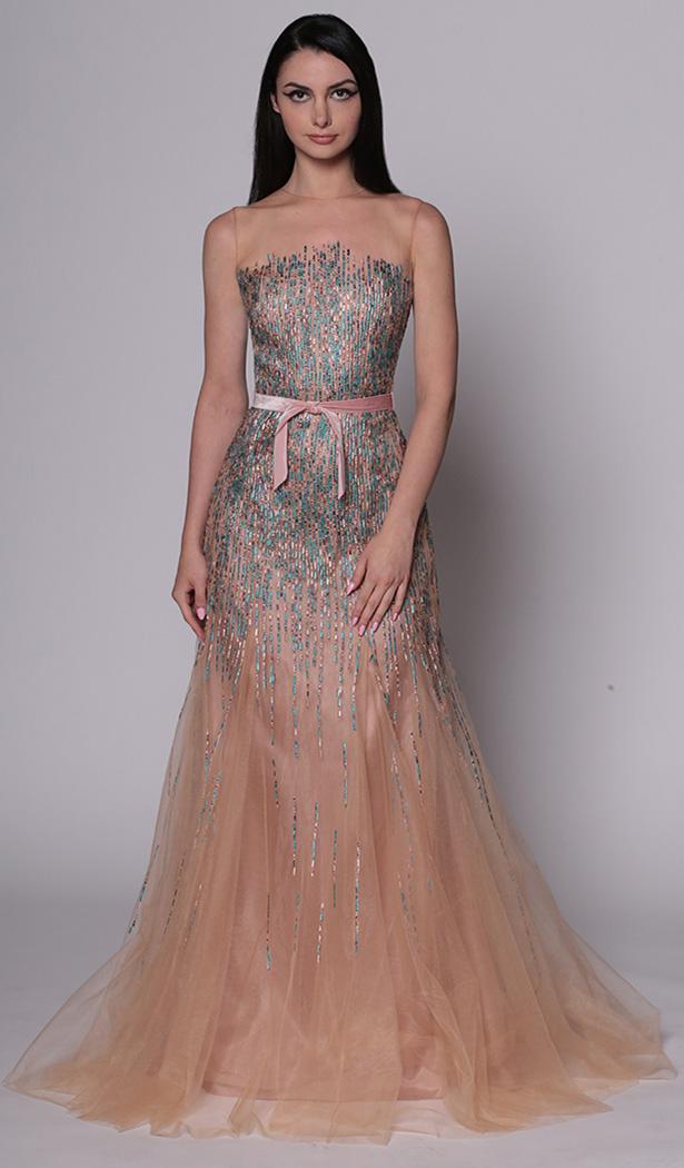 Sequin Dash Gown