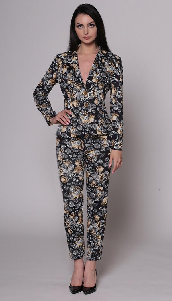 Jewel Print Jacket & Capri Pant