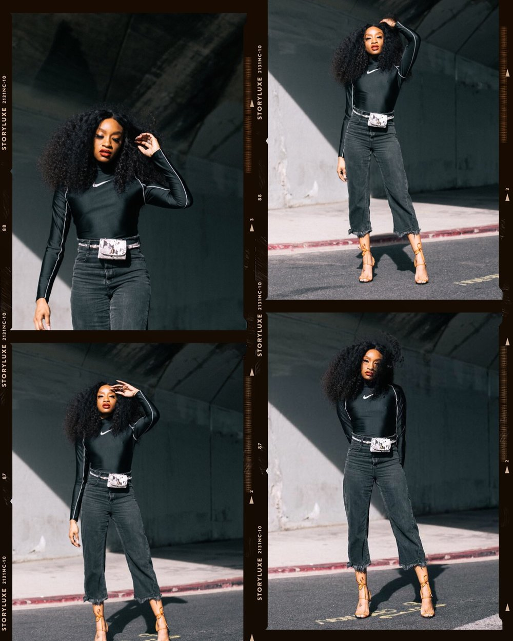 Shop The Look: - Nike X Ambush BodysuitJeansBodysuit