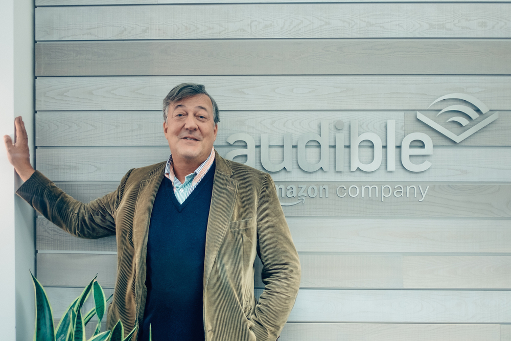 Stephen Fry at Audible offices.