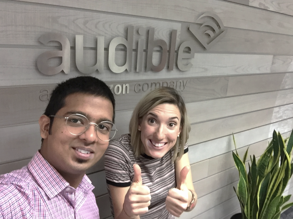 Amit and I at Audible offices.