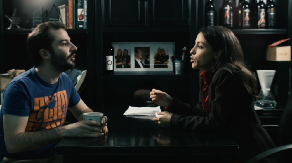 *a still from Kitchen Sink's promo video directed by Chris Winterbauer,featuring Kitchen Sink Host Kevin Comartin and Gabriela Rosamond as 'Sheela'.