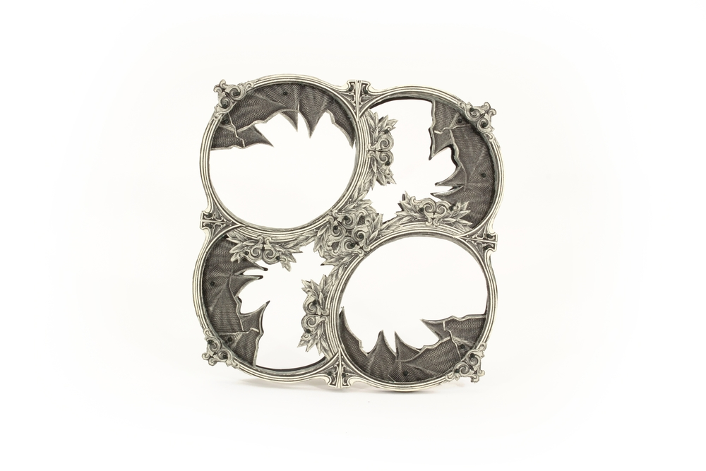 $34.00 and Unknown Amount of US Dollar Scraps   |  Brooch  |  US Currency, Silver, Monofilament, and Surgical Steel  |  2015  |  Private Collection  |  1/1