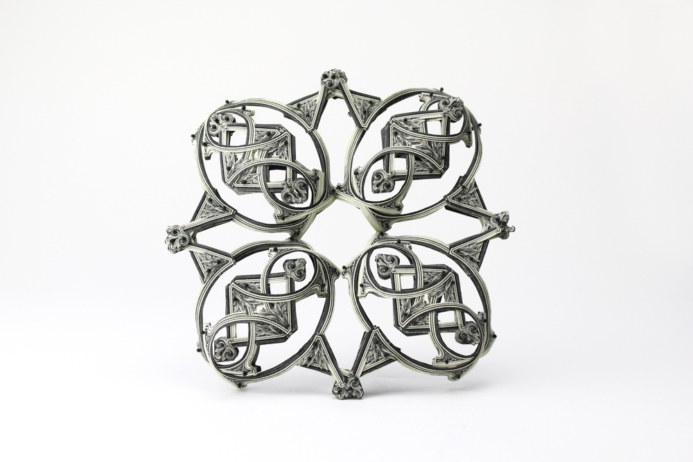 $120.00 Currency Converted   |  Brooch  |  US Dollars, Silver, Monofilament, and Surgical Steel  |  2015  |  1/1