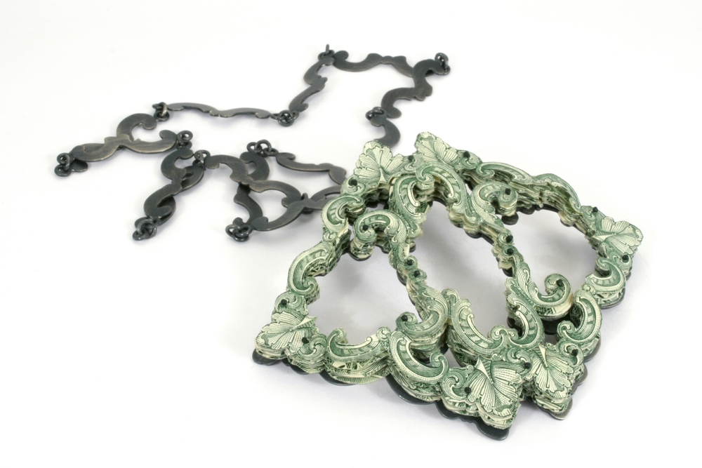 $46.00 Currency Converted   |  Pendant  |  US Currency, Silver, Latex, and Monofilament  |  2013  |  1/1