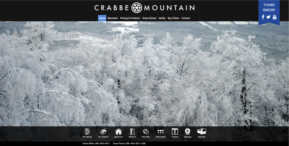 I only designed this page, I do not maintain it:  http://www.crabbemountain.com/