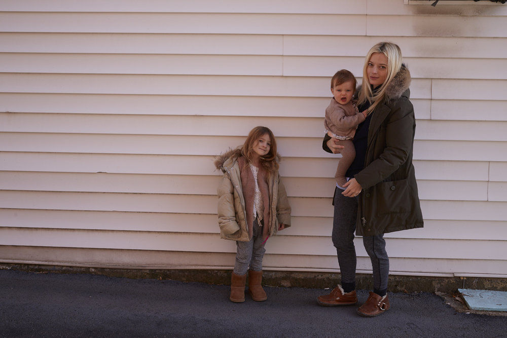 75 shots later - Honor, aged 6. Imogen, aged 1 (un-impressed) and me. Upstate, New York, Shot by the husband James Dimmock
