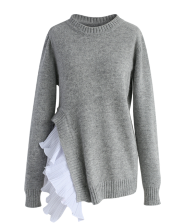 asymetrical sweater