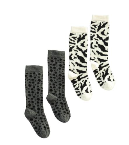 http://en.smallable.com/organic-cotton-zebra-leopard-socks-set-of-2-pairs-grey-popupshop-72514.html