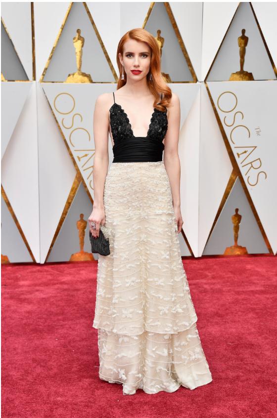 Ph: Emma Roberts, elegant in vintage Armani Privé