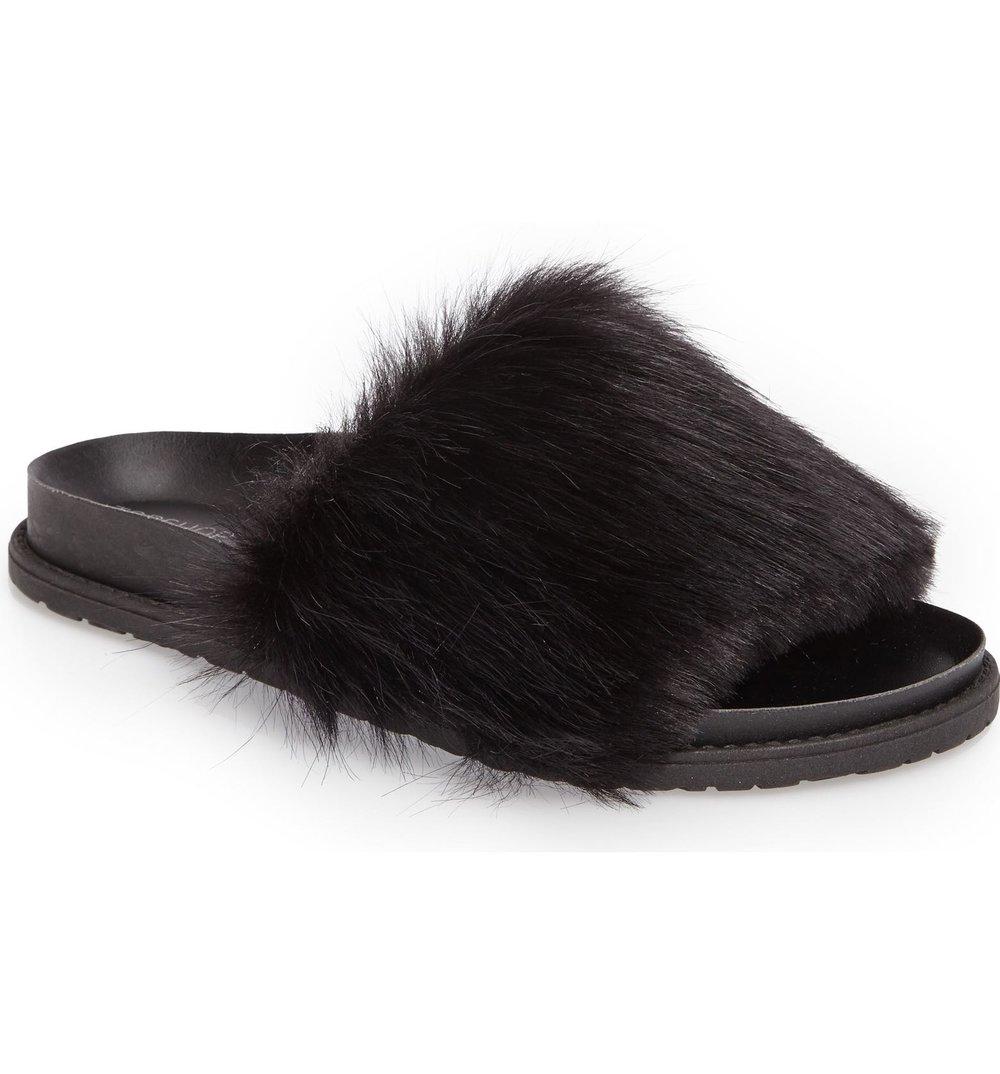 Ph: Topshop Faux Fur Slide