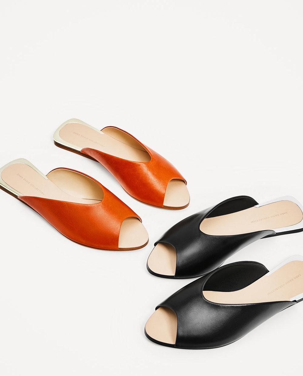 Ph: Zara Leather Slides