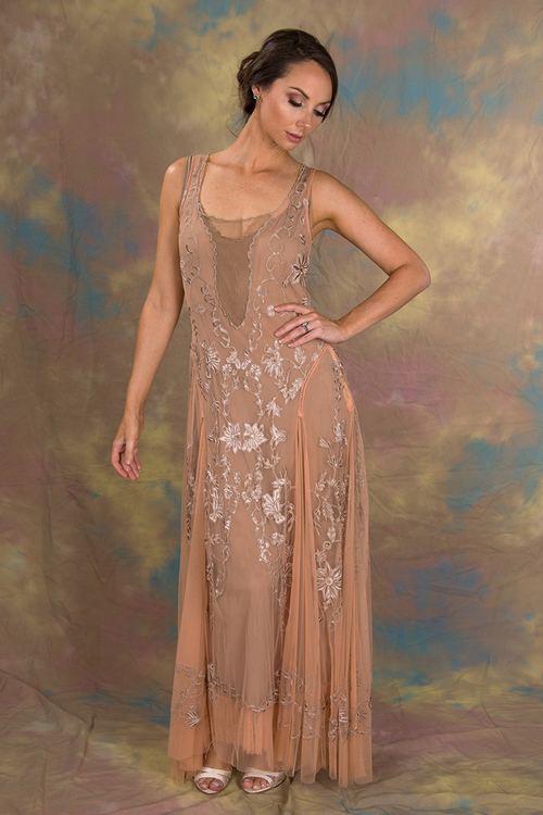 Enchanting Ivy | Peach & Beige — Regal Gowns