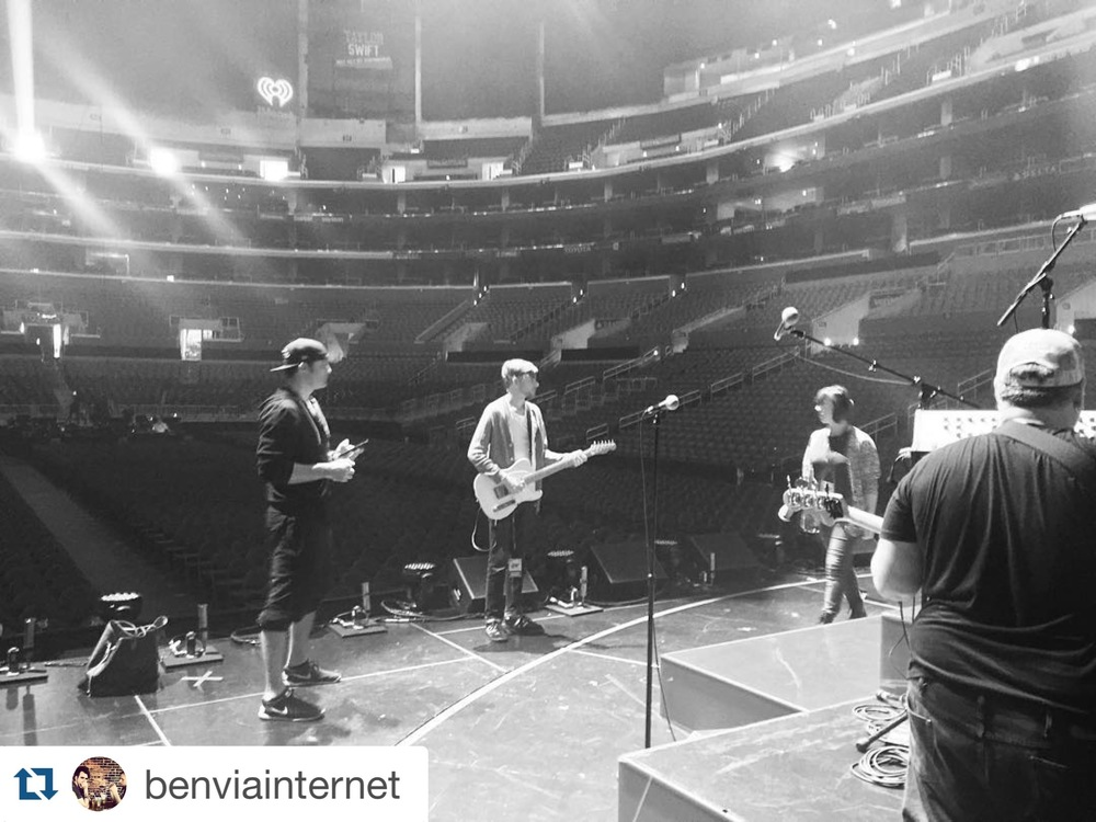 Staples Center, Selena Gomez soundcheck 12/15