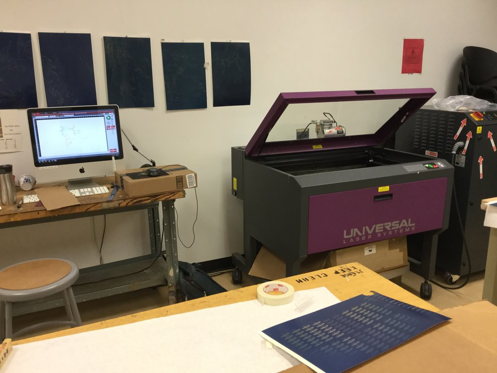 Laser-cutting studio