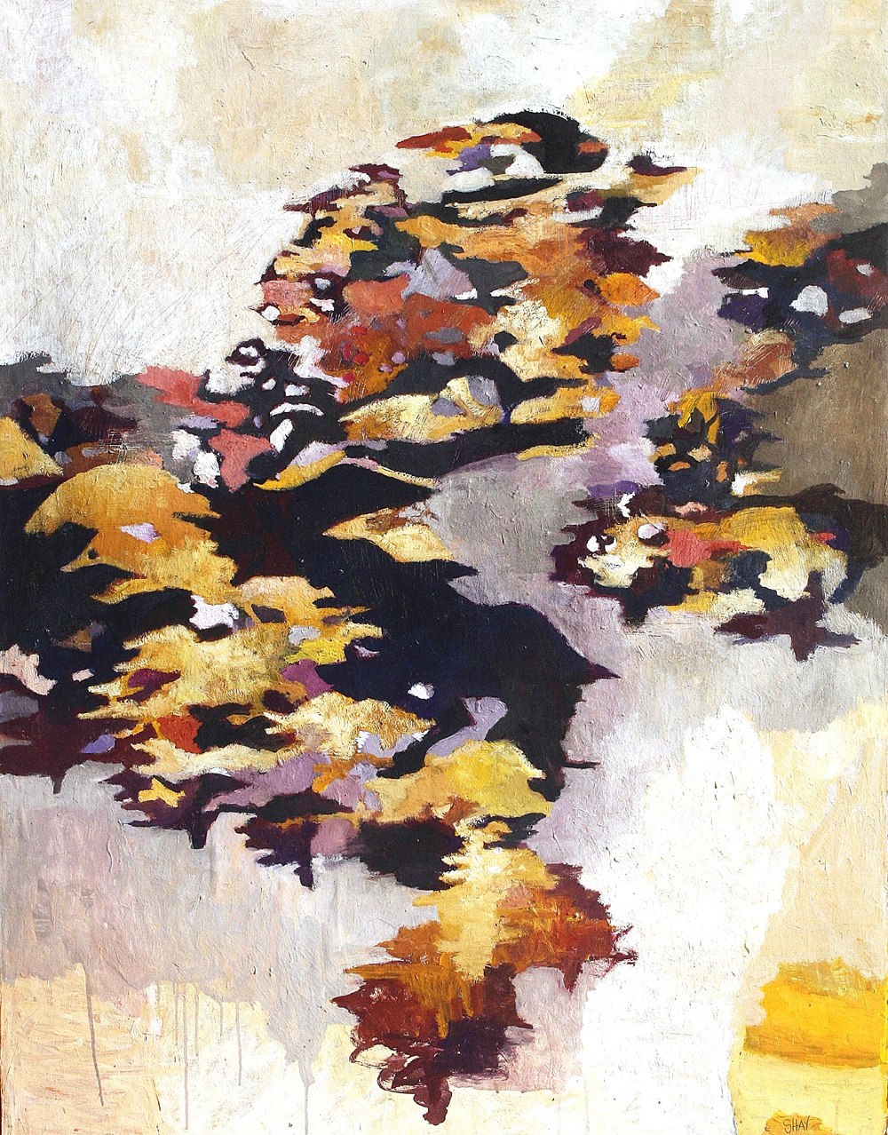 Grove Study 1. Casein and tempera, 65 x 50 in.