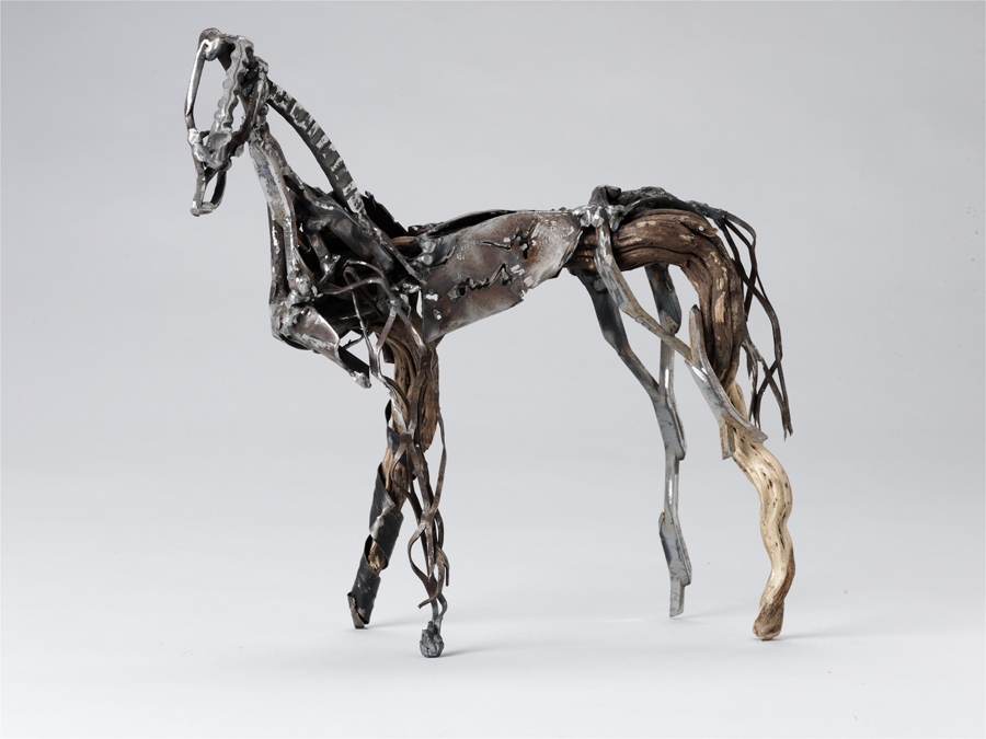Karen Shay, horse, steel and wood,  14 x 9 x 4 inches.jpg