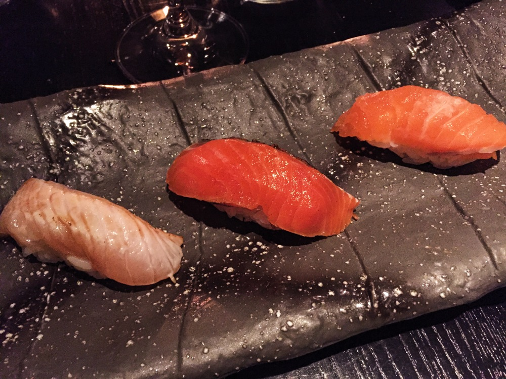 Courses 1-3-Salmon three ways