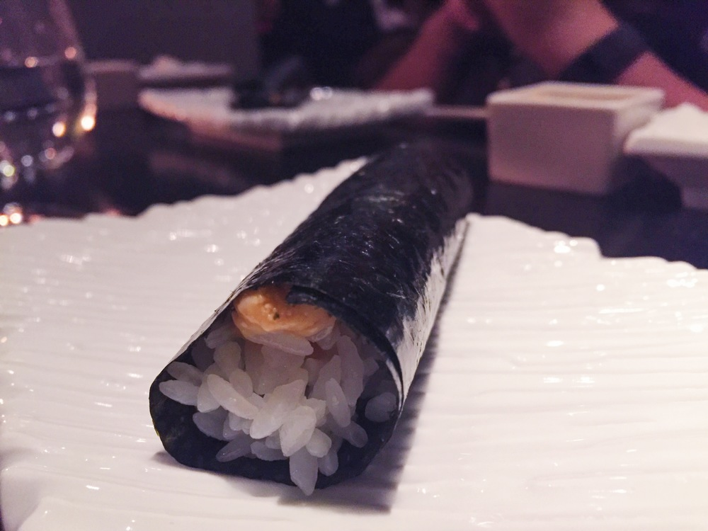 You get to pick a roll from their a la carte menu as part of your omakase.