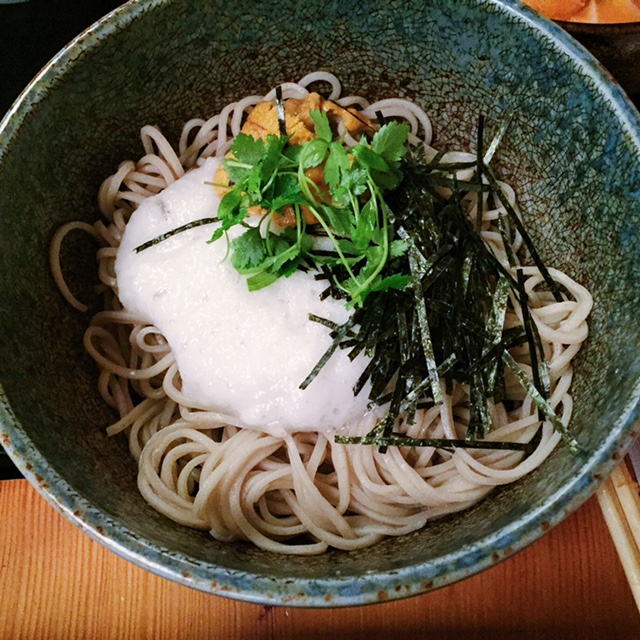 Soba at Soba-Ya in NYC- Do you see that UNI?!!!