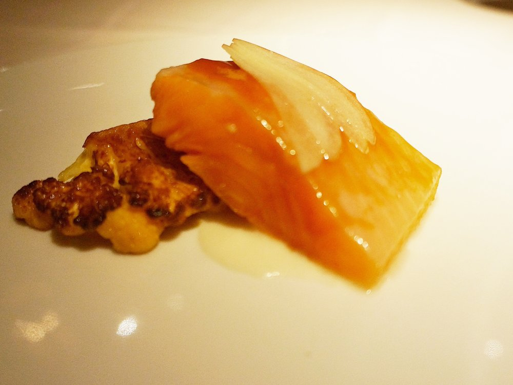 Arctic Char-Cauliflower, Apples, Chiles