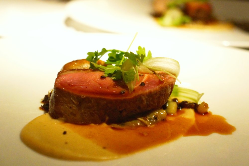 Duck Breast & Sausage - Lentils, Celery Root &  Cabbage