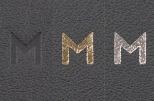 Album Debossing, From left: Plain, Gold, Silver
