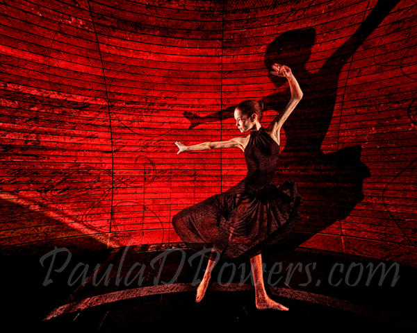 Dancer On Red Wall