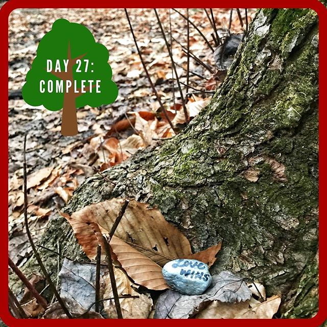 "Day 27 of our givingPROJECT was about tying up loose ends (pun sort of intended 🤣). The kids were tasked with delivering the tied fleece blankets they helped to make last week and place the rocks they painted on a local trail. ***** We had a lovely family day of charades and playing with new toys. We finished tying up the last few sections of one of the blankets and wrote words on the dry rocks. And then we set out to make deliveries. ***** The kids handed over the completed blankets. The organizer said that she believes they will be collecting enough blankets to supply all of the students at Bridge Academy by the New Year's Eve deadline. 🤗 The events surrounding the loss of this little boy, their classmate, is just heart wrenching. She did mention that they have had to spend quite a bit of money to purchase supplies for additional blankets, so if anyone would like to donate or if you know of any businesses that might want to sponsor, please message me and I will happily connect you. ***** We then set out on a trail and the kids enthusiastically ""placed"" the collection of painted rocks. They had so much fun doing this that even I was shocked! Mental note to do this more often. Positive messages painted on rocks are such a simple and wonderful way to engage kids in giving! ***** Today's givingTIP: I am guilty of starting a bag of clothes to donate (and leaving it to sit for months in my closet), setting aside a stack of books (to only reshelve them weeks later when they are still sitting there), or making lists about organizations I want to donate to (to have them remain on a list). If you are anything like me, why not set aside a couple of hours in your calendar, gather all of those bags and your kids, and take them to complete all of the giving. Whether you have been talking about it for months or not, it still makes an impact when you do act. Having your kids join in shows them how simple giving can be AND checks off so many boxes on your neverending to-do list! Happy Giving! ❤️"