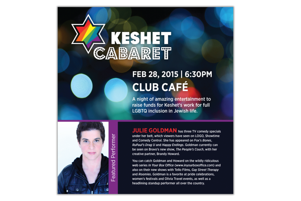Keshet Cabaret logo applications