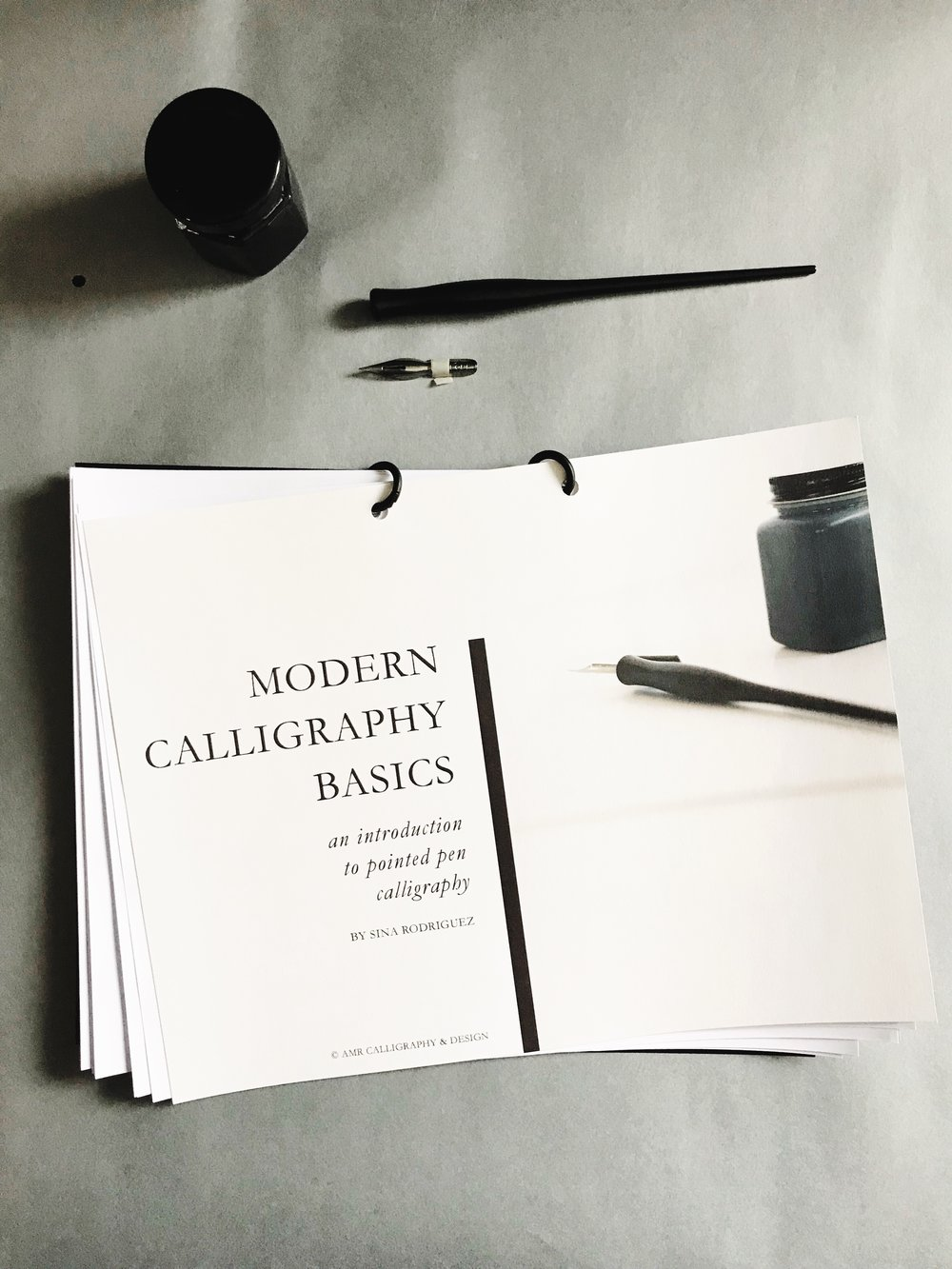 AMR Calligraphy & Design Workshop AMR Modern Calligraphy Alphabet Workshop Workbook