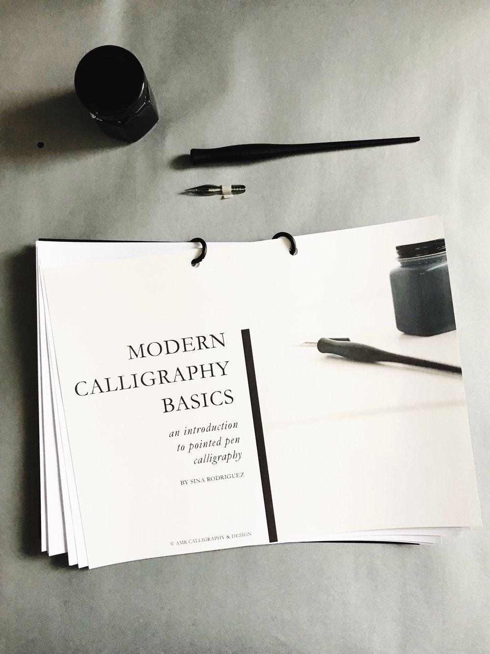 AMR Calligraphy Workshop Modern Calligraphy Alphabet