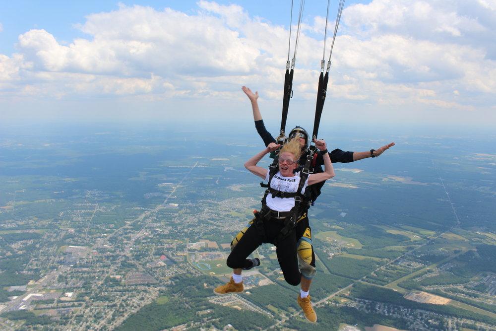 Tandem skydiving at Skydive Cross Keys NJ 2017