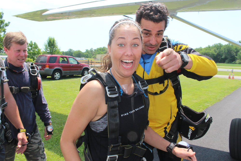 Tandem skydiving at Skydive Cross Keys NJ 2017