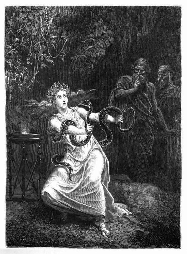 Émile Bayard,  Oracle of Delphi  from  Histoire de la Magie , by Paul Christian, Paris, 1870.