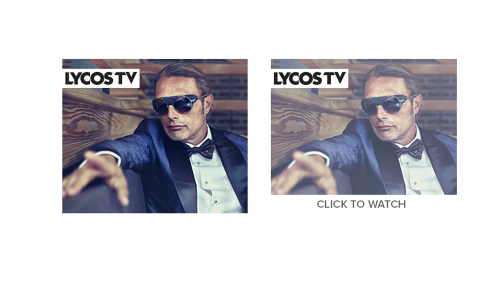 A video advertisement module aimed and sending traffic to Lycos TV.