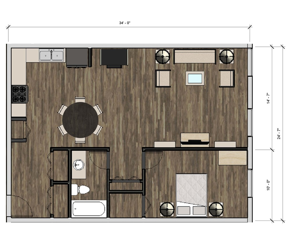 Typical 1BR Plan