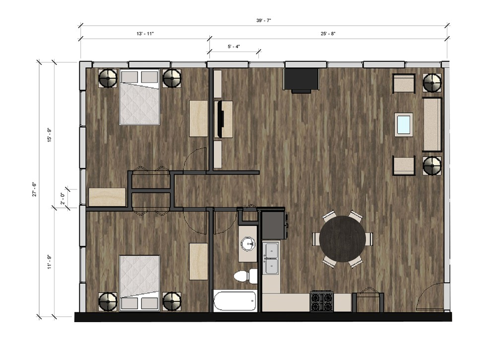 Typical 2BR Plan