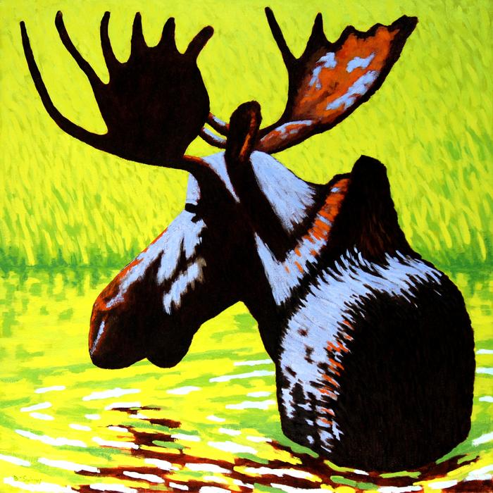 Brenda Swinney - Snake River Moose